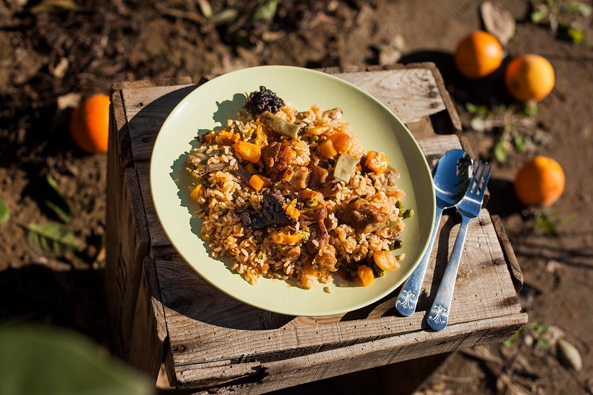 arroz con calabaza, especialidad valenciana